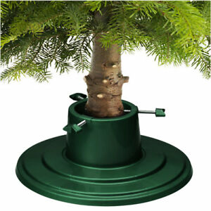Christmas Tree Stands.Details About Christmas Tree Stand Green Holly Round Water Holding 6ft 1 8m Real Xmas Trees