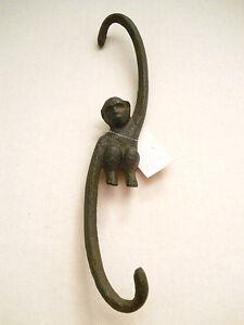 Image Is Loading Cast Iron Monkey S Hook Plant Holder Or