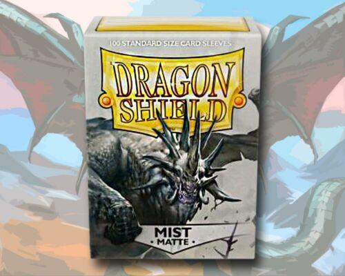 100 Dragon Shield Card Sleeves Karten Hüllen Standard Size Matte Mist Grey Grau