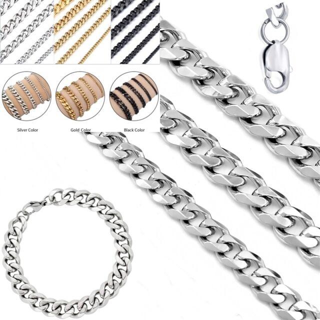 Halskette Kette Figaro 5mm Edelstahl zur Wahl