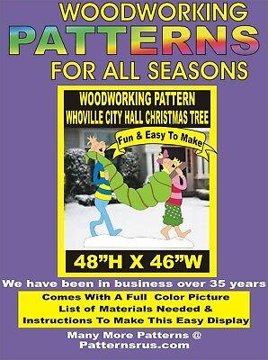Whoville City Hall Christmas Tree Yard Art Pattern Woodworking Patternsrus Ebay
