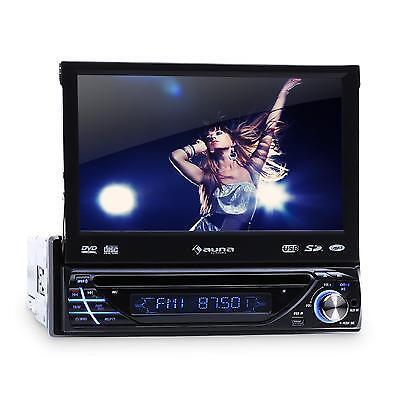 AUTORADIO MIT TOUCHSCREEN BLUETOOTH DVD/CD-PLAYER USB SD AUX MP3 1DIN MONICEIVER