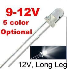 50pcs 12v 3mm White Led 9v Gauge Cluster Instrument Light Emitting Diodeswhite