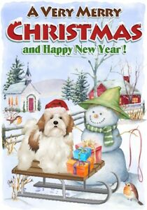 Lhasa-Apso-Dog-A6-4-034-x-6-034-Christmas-Card-Blank-inside-by-Starprint