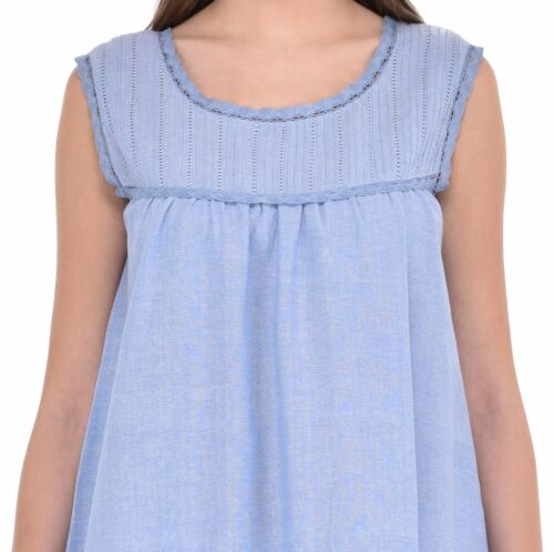 Blue Chambray Ladies Ladies Nightdress Classic Blue Chambray Nightdress Ladies Classic wIIOrR