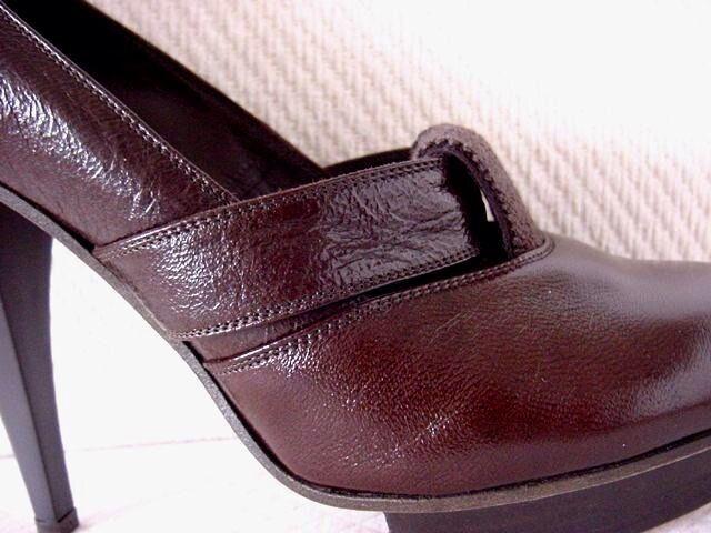 Chloe Women's Size  36,5Round 36,5Round 36,5Round Toe Platform Pumps Heels Dark Brown Reg  750 MINT 8c4ab8