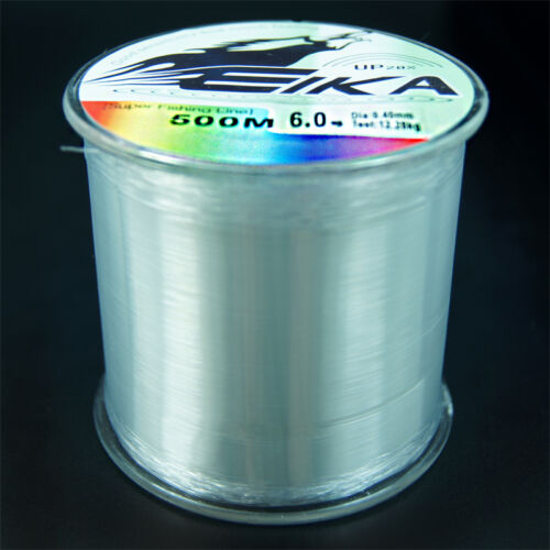 500m Super strong Monofilament Clear Spectra Nylon Fishing Line 0.4#-6.0# Mono