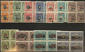 PERU-209-219-Very-Nice-Mint-NEVER-Hinged-SPECIMEN-Blocks-Set-gd50