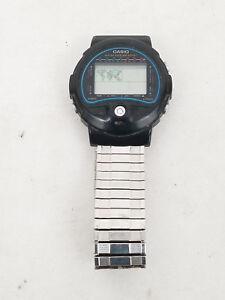 VTG Casio TS-100 World Time Temp 815 Digital LCD Watch w  Speidel ... d8b8d8081602a