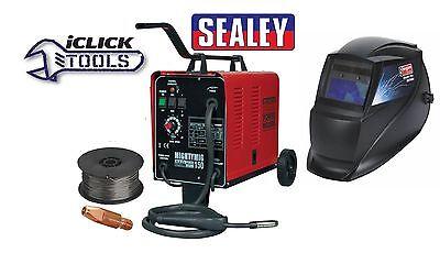 Sealey MIGHTYMIG150 Gas / No-Gas MIG Welder 150Amp 230V & Welding Helmet