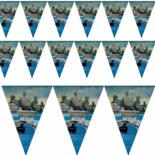 THOMAS TANK ENGINE BIRTHDAY PARTY DECORATIONS TABLE COVER CUPS PLATES BUNTINGS