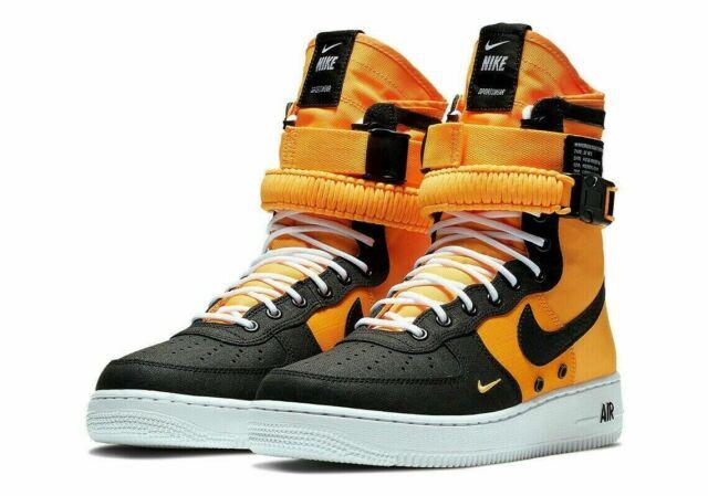 Nike SF AF1 Air Force One High Sneakers Shoes Boot LASER ORANGE 864024 800 Men 9