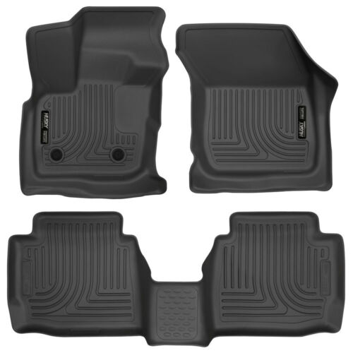Husky Liners Weatherbeater 2017-2019 Ford Fusion Complete Floor Mats Set BLACK