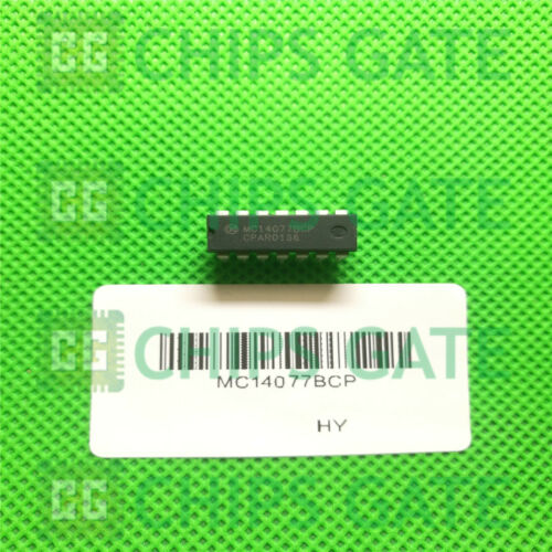 4PCS MC14077BCP IC GATE XNOR 4CH 2-INP 14-DIP ON