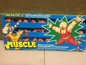 Mattel 1985 Muscle Men Rare HTF #1 Thug Buster Set 28 Figures (d31)