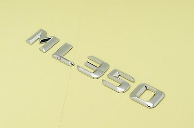 CHROME BENZ ML350 REAR TRUNK LETTERS BADGE EMBLEM FOR BENZ ML-CLASS W163 W164