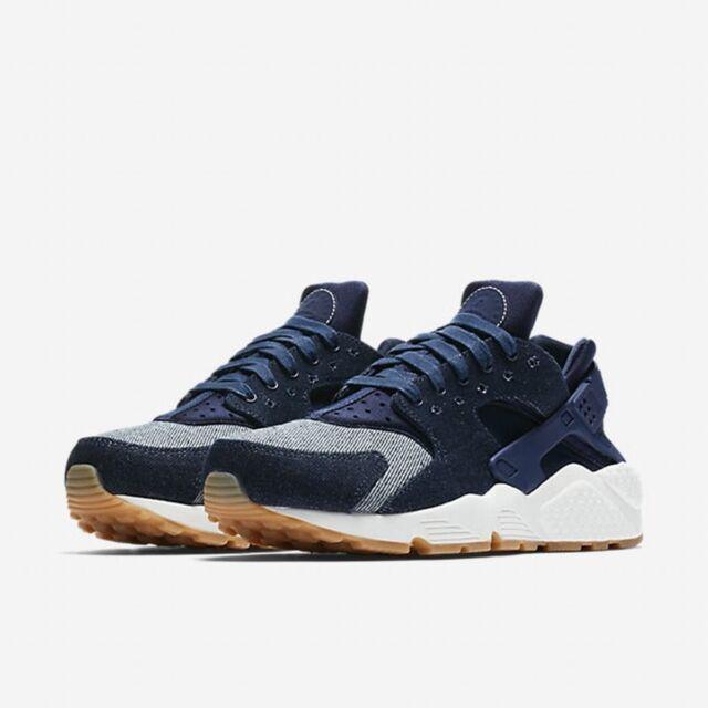 Nike Air Huarache Run SE Binary Blue Denim Womens Size 8.5 Shoes 859429 401 $120