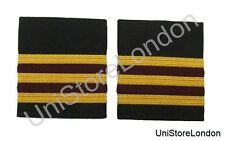 Epaulette 3 X1/4 inch Gold 2 Bars Maroon Airline Uniform Clothing R235