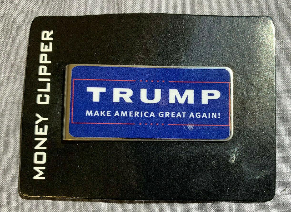 Metal Money Clip Bills Card Holder Rectangle Trump 2020 D22