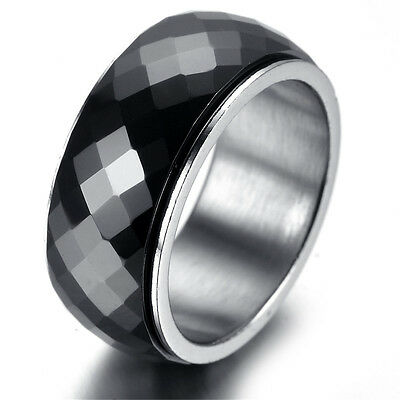 Mens tungsten Ring, Viantage, Biker, black,HR5549