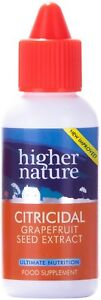 Higher Nature Citricidal Grapefruit seed extract NEW IMPROVED