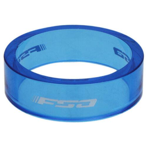 "FSA PolyCarb headset spacer blue 10//bag 1-1//8/"" x 10mm"
