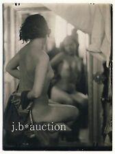 Artistic MIRROR nude study artistica SPECCHIO atto studio * VINTAGE 30s PHOTO