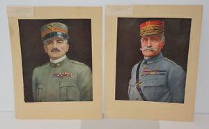 The FOUR FAMOUS GENERALS COLLIER & SON N.Y 1918 PHOTOS A.DIAZ , F.FOCH