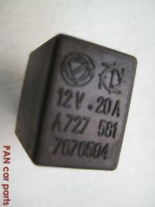 Fiat Relais Steuerrelais 7681204 schwarz 12V42//46W ARGO x2