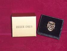 Heidi Daus Shall We Dance Crystal-Accented Triangular Ring Size 7 New with Box