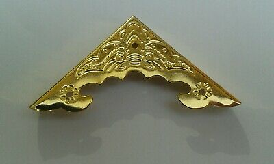 Actief 8 Decorative Corner Mounts, For Small Cabinets,jewelry Boxes,bright Gold Finish