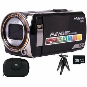 Vivitar Polaroid iD975 Dual Shot Video Camera 8GB Accessory Bundle