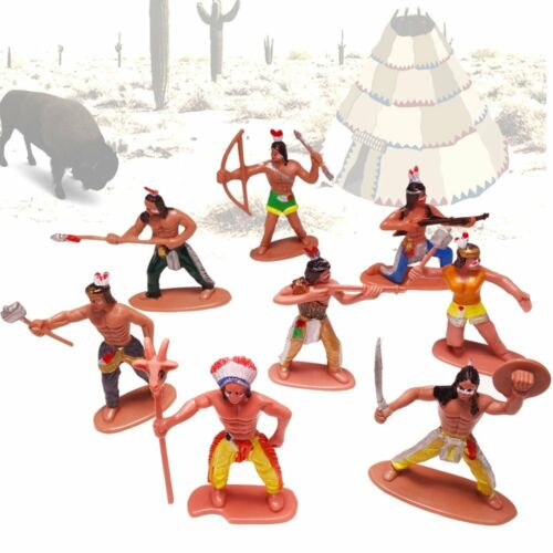 German Trendseller® Spielzeug Figuren ┃ NEU ┃ Kindergeburtstag 12 x Indianer