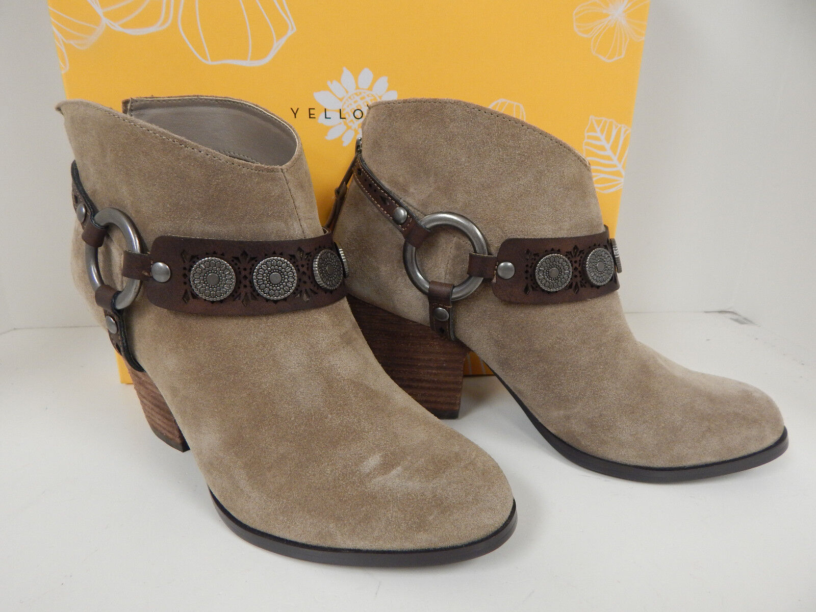 Yellow Box Mandy Taupe Suede Leder 28729 3