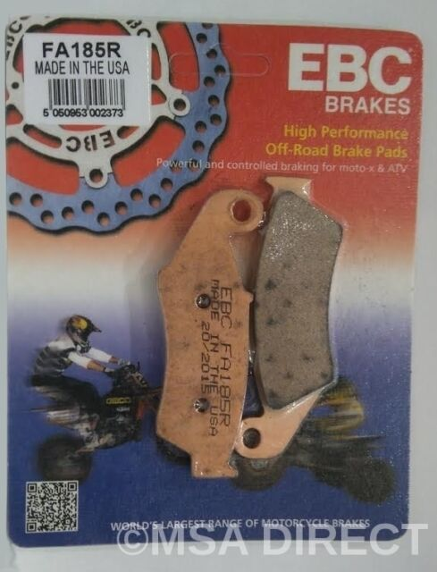 Kawasaki KLX250 (1993 to 2007) EBC R Sintered FRONT Brake Pads (FA185R) 1 Set