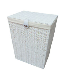 Laundry-Basket-Medium-White-Resin-Box-With-lid-Lock-By-Arpan