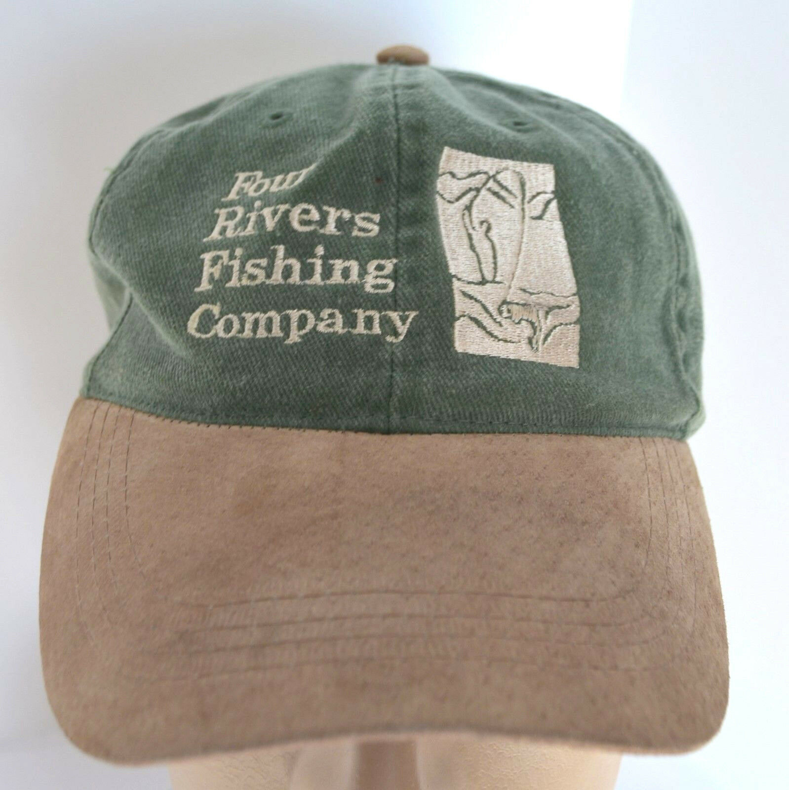 Four Rivers Otto Fishing Hat Twin Bridges Montana Mens Green Otto Rivers Cap Baseball Lid 9a71ba