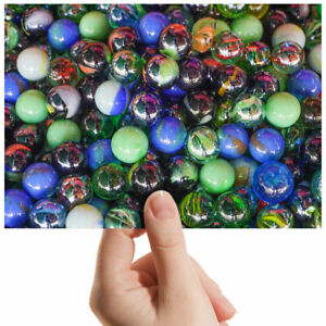 Colourful-Glass-Marbles-Small-Photograph-6-034-x-4-034-Art-Print-Photo-Gift-3332