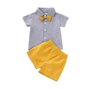 9f9552e48773 Details about Baby Boys Summer Short Sleeve T Shirt Short Pants Suit  Newborn Clothes Outfits