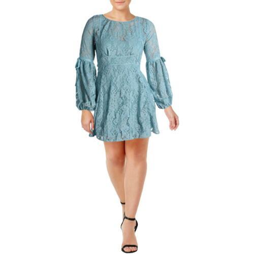 Free People Womens Rubi Blue Party Lace Mini Cocktail Dress XL BHFO 1321