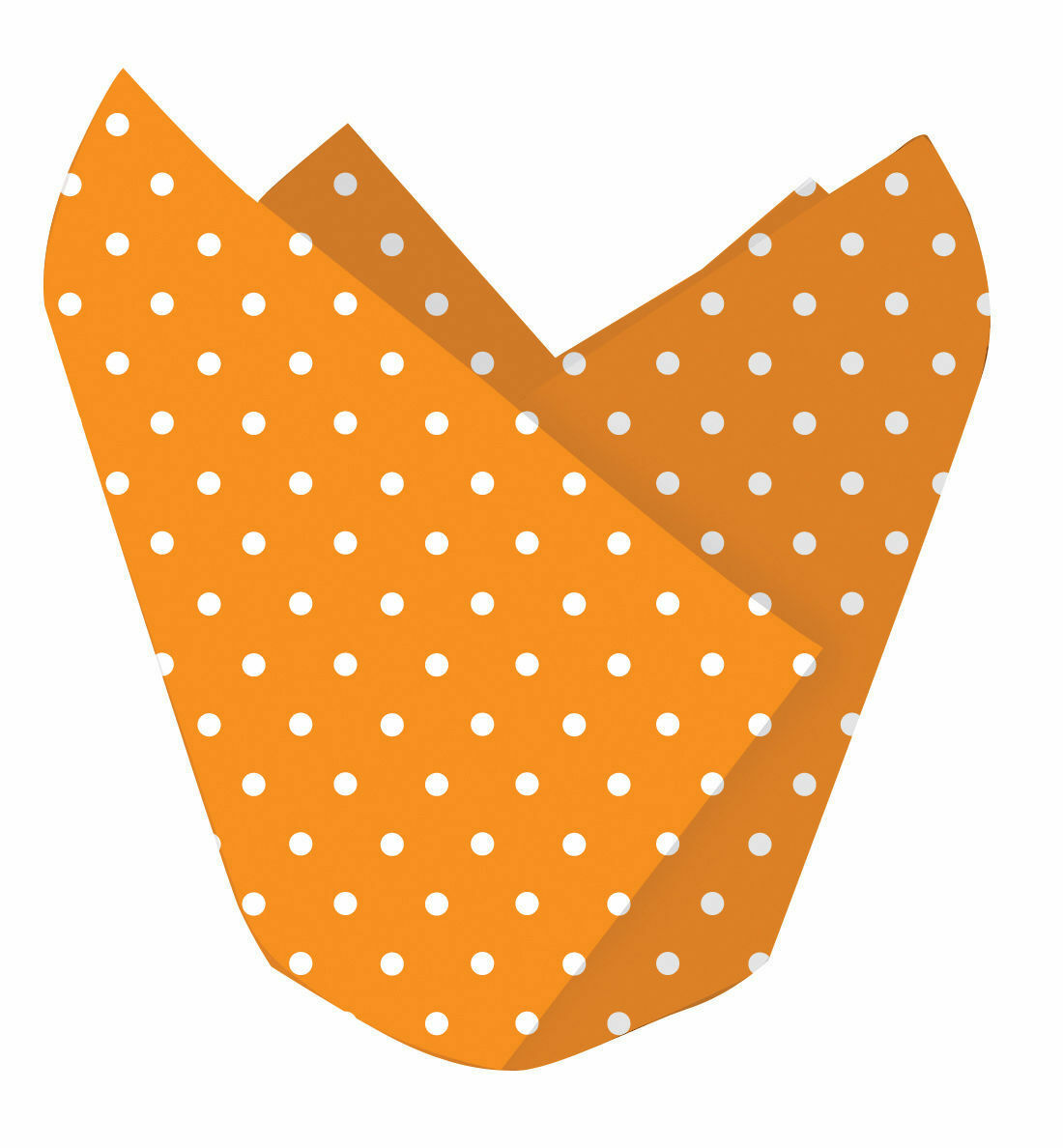 12 X Halloween Cupcake Envoltorios Fundas Decorativo Naranja Lunares