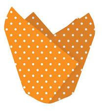 12 X Halloween Cupcake Wrappers Magdalena Cajas Decorativo Envolturas punto anaranjado