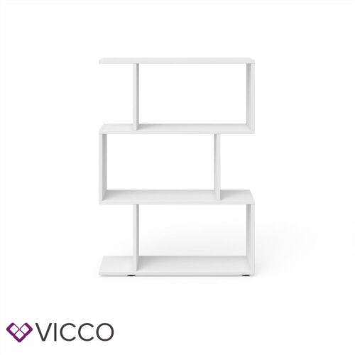 Vicco Étagère cloison Levio étagère à livres espace de rangement placard Blanc