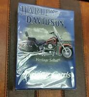 Harley Davidson Playing Cards Heritage Softail Motorcycle Unopened Box