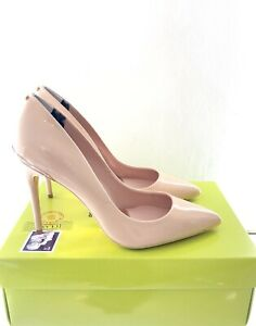 TED-BAKER-Nude-Patent-Leather-Heels-Size-6-EU-39-Court-Shoes-Brand-New-RRP-150