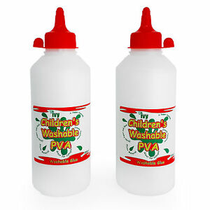 Ivy-Children-039-s-Washable-PVA-Craft-Glue-Twin-Pack-Made-in-UK-2-x-500ml