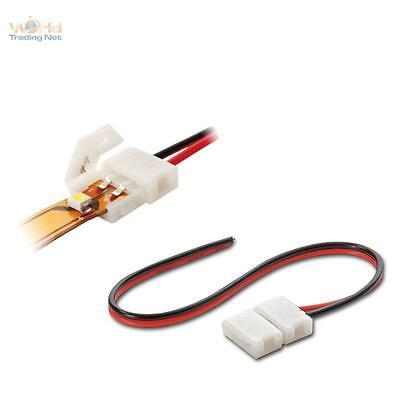 Schnell-Anschlusskabel für 2pol SMD LED Stripe Streifen, Anschluss-Kabel 15cm