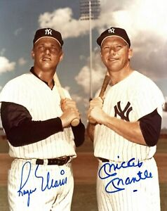 Mickey-Mantle-Roger-Maris-Autographed-Signed-8x10-Photo-HOF-Yankees-REPRINT
