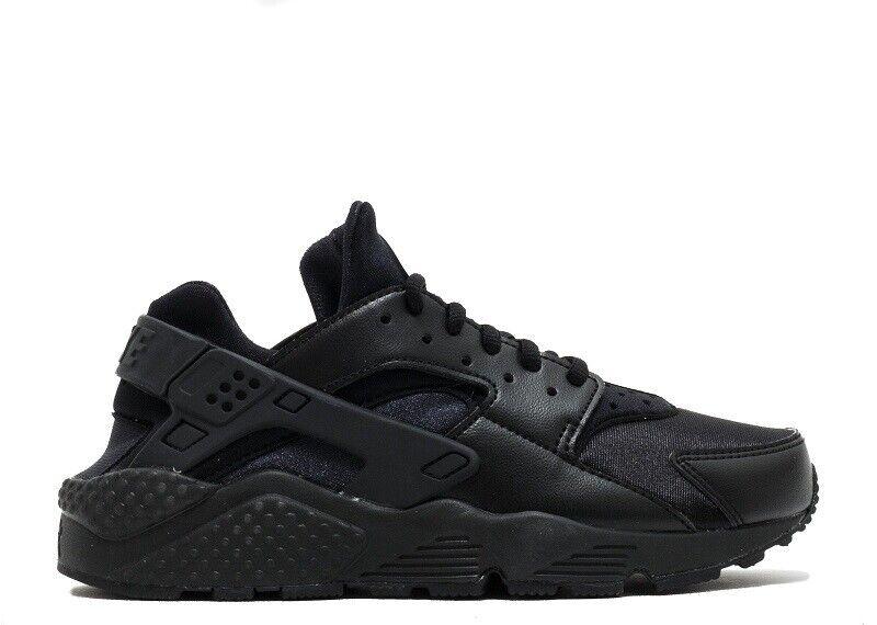 Nike Damen Luft Huarache Run 634835 012 Schwarz Schwarz Brandneu