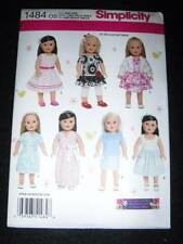 """Simplicity 1484 Sewing Pattern for 18"""" American Girl Doll Clothes 7 Styles"""